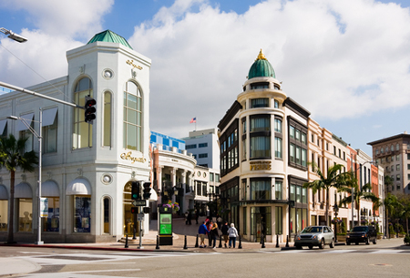 Streets and buildings of Beverly Hills