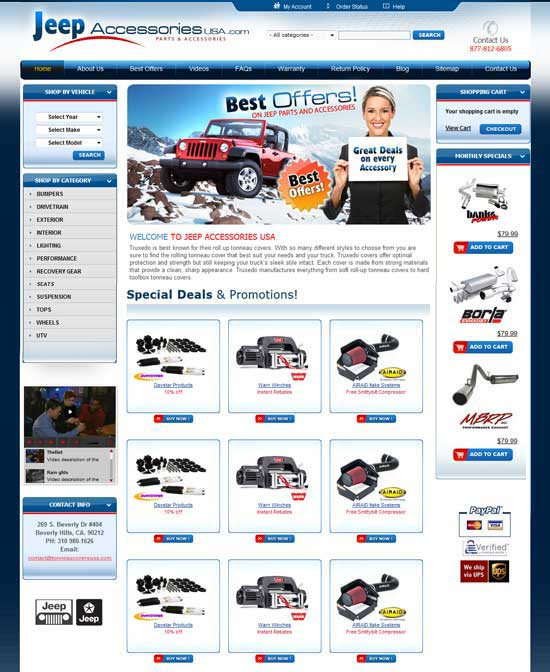 Web Site Design Example with Flash big image