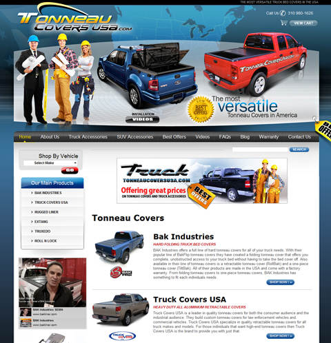 Tonneau Covers USA Web Site Design Example big image